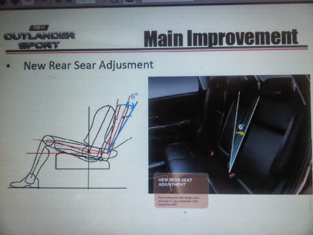 New Rear Seat Adjusment for second seat